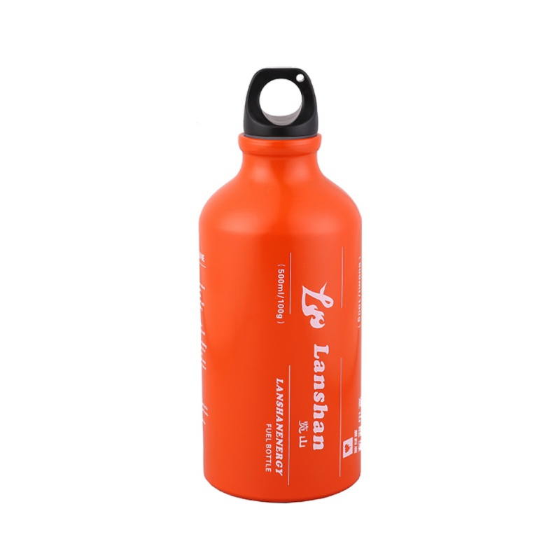 500ml Aluminium Alloy Outdoor Camping Gas Fuel Oil Bottle Picnic Barbecue Motorcycle Emergency Petrol Kerosene Alcohol Liquid Ga