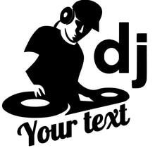 Autocollants et texte de musique DJ, décoration de voiture de personnalité, autocollant de voiture en PVC, pour toutes les voitures, appareils électroménagers, Etc.
