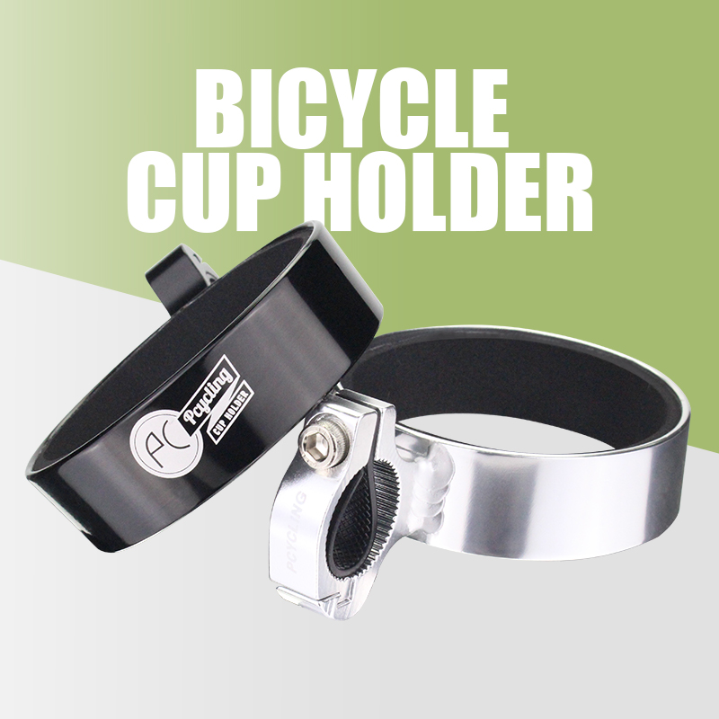 PCycling Bicycle Coffee Cup Holder MTB Road Bike Bottle Rack Nylon Aluminum Alloy Adjustable Retro Style Cycling Accessories