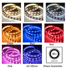 3Years Guarantee  CRI+90  LED Strip Lighting 24V 14W/m 120LED/m White Warm White Blue Yellow UV  For Light Project