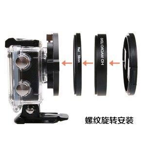 Image 5 - 58mm 16x grossissement HD Macro objectif + filtre rouge 58mm adaptateur anneau capuchon dobjectif pour SJ6 Legend Gopro 3 4 accessoires de photographie