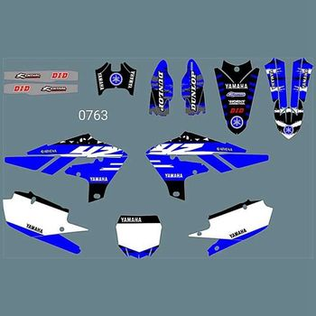 for YAMAHA YZ250F 2019 New Full Graphics Decals Stickers Custom Number Name Glossy Bright Stickers Waterproof