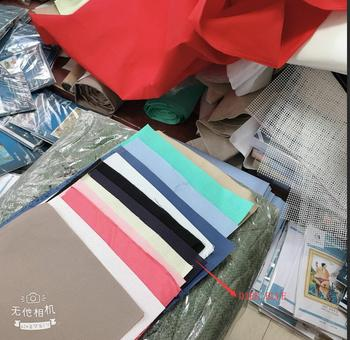 9CT 11CT 14CT 16ct 18ct 28ct kolorowe hafty tkaniny ściegiem krzyżykowym płótno biały kolor czarny lniany kolor grzyba tanie i dobre opinie XIANGYUANWU S SHOP-ZBYXZ Kanwa 100 COTTON PAPER BAG Europa Składane