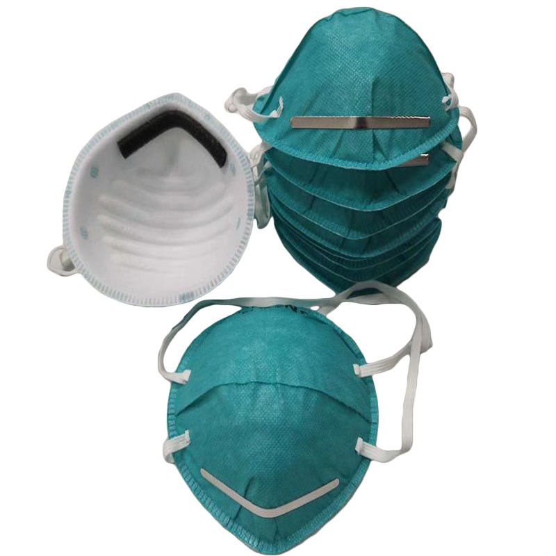 2020 Non Woven Green Cup Type Smog Breathable Dust Adjustable Strip Mask Dustproof Outdoor Facial Masks