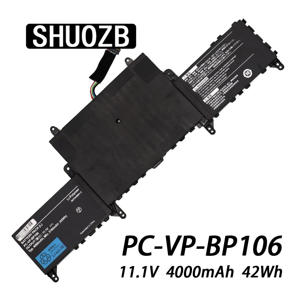 PC-VP-BP106 New Laptop Battery For NEC LAVIE HZ750 HZ650CA Batteries 11.1V 4000mAh 42Wh 6cells SHUOZB