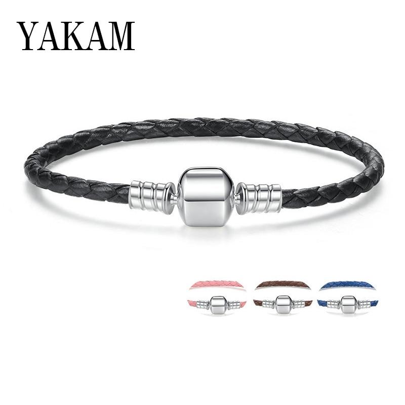 Letter H Initial Black Teal Stripes European Italian Style Bracelet Bead Charm
