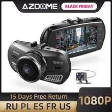 AZDOME M11 3 pollici 2.5D IPS Dello Schermo Dash Cam Registratore Dellautomobile DVR HD 1080P Dual Lens Car Video Dashcam visione Notturna di GPS della Macchina Fotografica del Precipitare