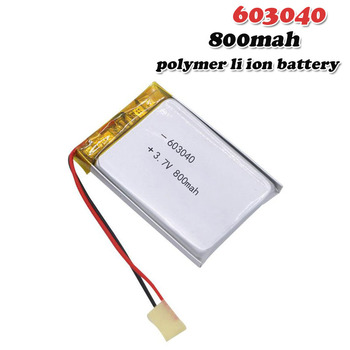 800mAh 3 7V 603040 polimerowa litowo-polimerowa li-po li-ion akumulator do MP3 MP4 DVD zabawka DIY głośnik Alarm komórki Lipo tanie i dobre opinie EASTFIRE Li-polymer 800 mAh CN (pochodzenie) Tylko baterie 40x30x6mm 1 57x1 18x0 24 3 7~4 2V Lithium Polymer Battery lipo battery 3 7V