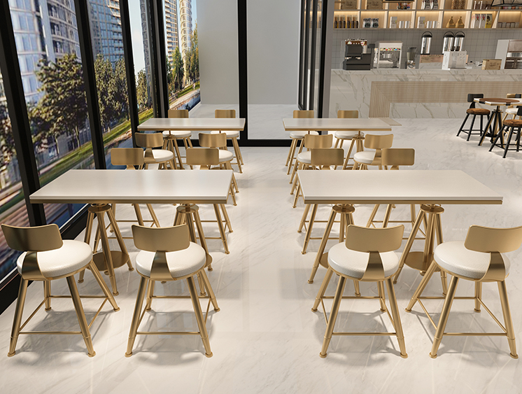 Table And Chair Combination Of Nordic Modern Net Red Milk Tea Shop Simple And Fresh Coffee Shop Dessert Shop Iron Chair Small Ta
