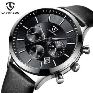 Image 1 - LAVAREDO Top Merk Luxe Heren Horloges Mannelijke Klokken Datum Klok Lederen Band Quartz Business Mannen Horloge Gift A7