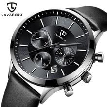 LAVAREDO лучший бренд класса люкс для мужчин s часы мужские часы Дата часы кожаный ремешок Кварцевые бизнес для мужчин часы подарок A7