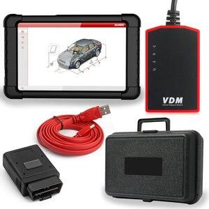 Image 1 - Автомобильный сканер UCANDAS VDM OBD2, WiFi Многоязычная полная система, диагностический инструмент для Windows, Android, с планшетом, автоматический сканер