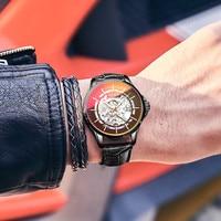 Ailang luminoso automático relógio mecânico homem marca de luxo à prova dwaterproof água cor mudando vidro masculino relógio relogio