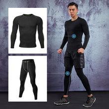Gym Clothing Suit Rashguard Tights Training-Suit Fitness Compression Men Jogging
