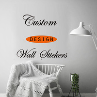Vinyl custom sticker custom Logo/Name/Sentences/Patterns waterproof removable wall sticker