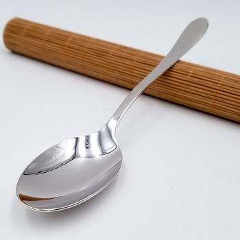 Glossy long handle 999 silver spoon 85 g foot silver spoon household silver cutlery edible silver rice spoon soup spoon coffee фото