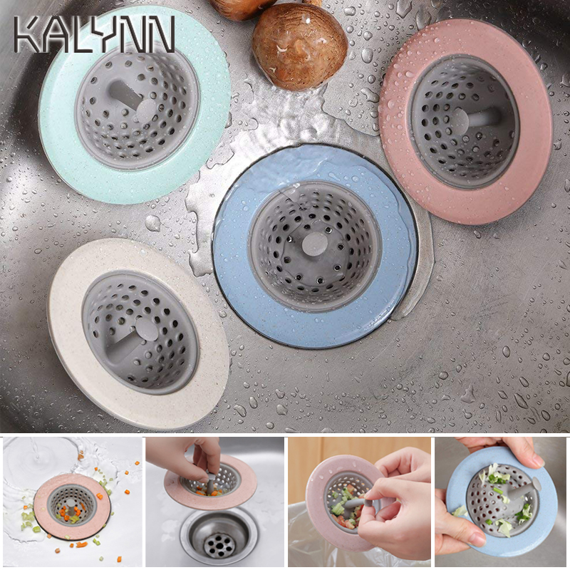 Blue Silicone Kitchen Sink Straine Sink Floor Drain Cover Anti-clogging Filter Sewer Anti-Miscellaneous Shower Hair Sewer Filter