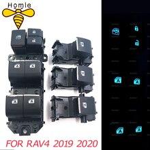 מואר LED כוח יחיד חלון מתג סט עבור טויוטה RAV4 RAV 4 2019 2020 שמאל נהיגה תאורה אחורית מתג ראשי