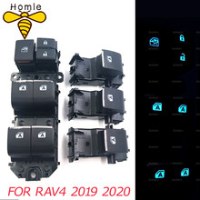 Iluminado led de energia único interruptor da janela conjunto para toyota rav4 rav 4 2019 2020 esquerda condução retroiluminação interruptor mestre
