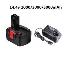 Bateria recarregável da ferramenta elétrica de 14.4v 2000mah 3000mah 5000mah ni-cd para bosch bat038 15614 1661 1661k 22614 23614 32614 33614