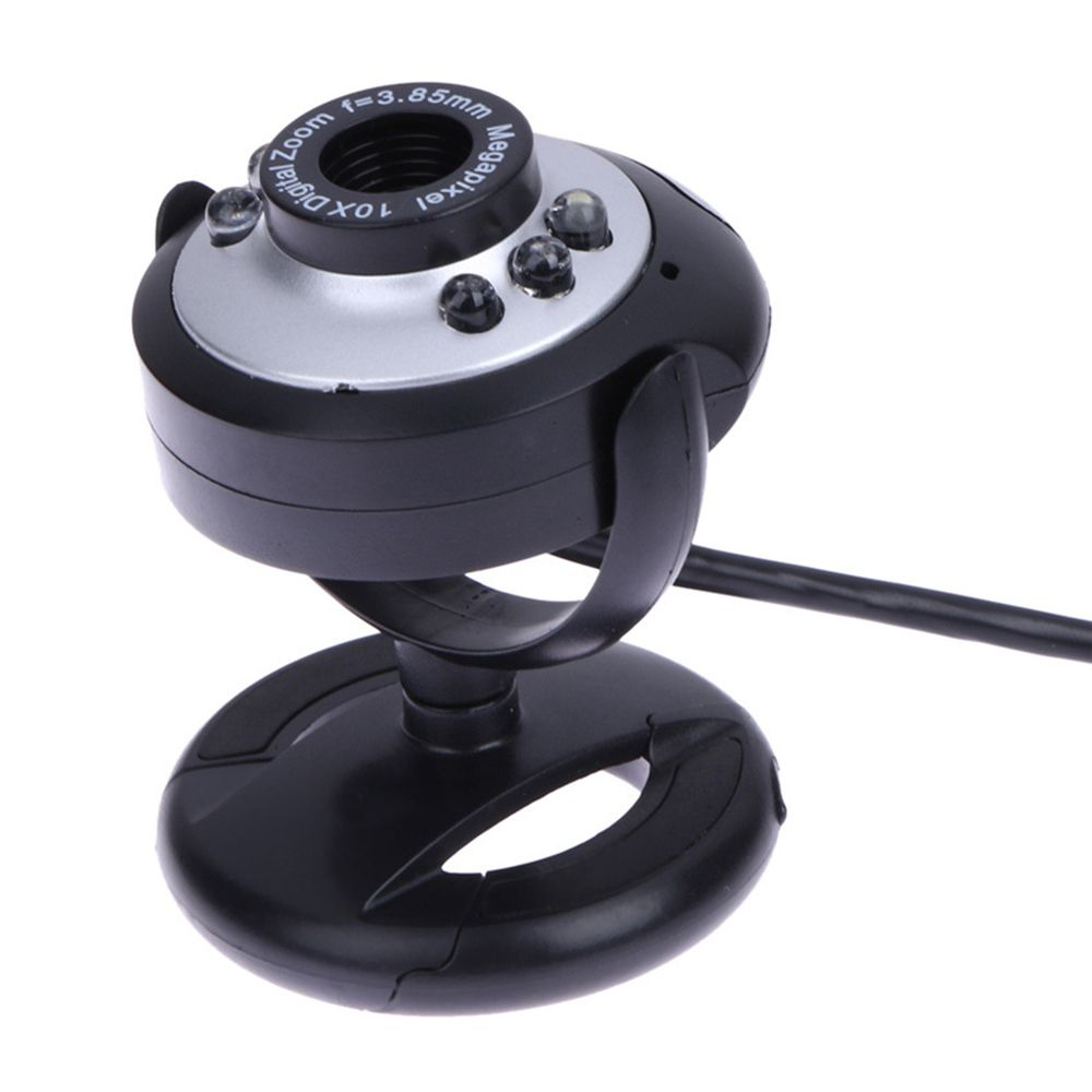 Hot Sale New 640 X 480 USB 50.0 M Web Camera 6 LED Night Light Buit-in Mic Clip Cam Webcam For PC Desktop Laptop Computer