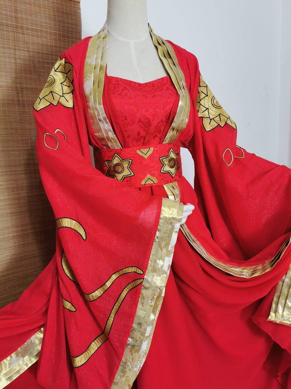 Jiang Yanli Universal Red Bride Wedding Costume Hanfu for Anime The Founder of Diabolism Cosplay Hanfu Female Costume TV Play