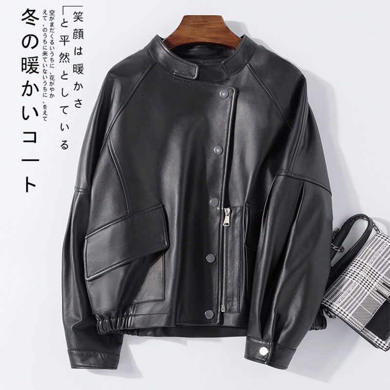 Nerazzurri Short Black Leather Jackets Women Drop Shoulder Spring Plus Size Faux Leather Jacket Trending Women Fashion 2020 3xl