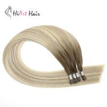 HiArt 0,8 г/С я Совет человеческих волос расширений салон кератиновые капсулы двойной рисованные волос pre скрепленное прямо выметание волос 18