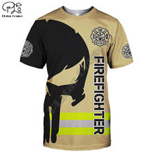 Frefighter футболка Летняя с принтом для мужчин и женщин рубашки