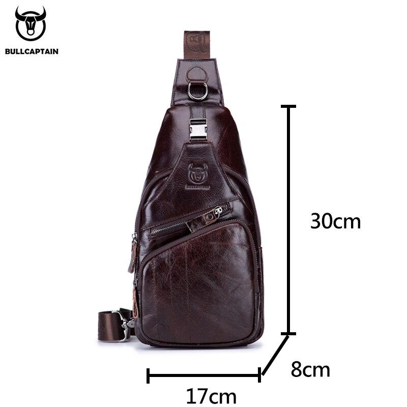 BULLCAPTAIN 2019 Genuine Leather Men Messenger Bag Men's Shoulder Bag
