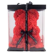 30/40cm Dropshipping Rose Bär Rose Freundin Valentines Tag der Mutter Tag Geschenk Teddy Beart Geburtstag Party Dekoration(China)