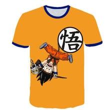 2020 bebê menino roupas dos desenhos animados das crianças goku-dragon-ball-camiseta verão moda menino e menina 3d impresso curto-mangas compridas topo
