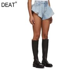 DEAT 2020 nueva moda de verano ropa de mujer de alta cintura vintage corte borlas pantalones cortos denim WL25705L marea ropa de chica sexy