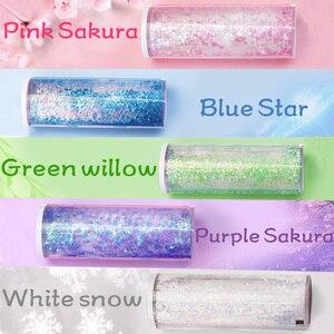 Image 5 - Trousse à crayons multifonctionnelle à sable, trousse avec calculatrice solaire, boîte à crayons pour stylos à miroir, papeterie trousse à crayons