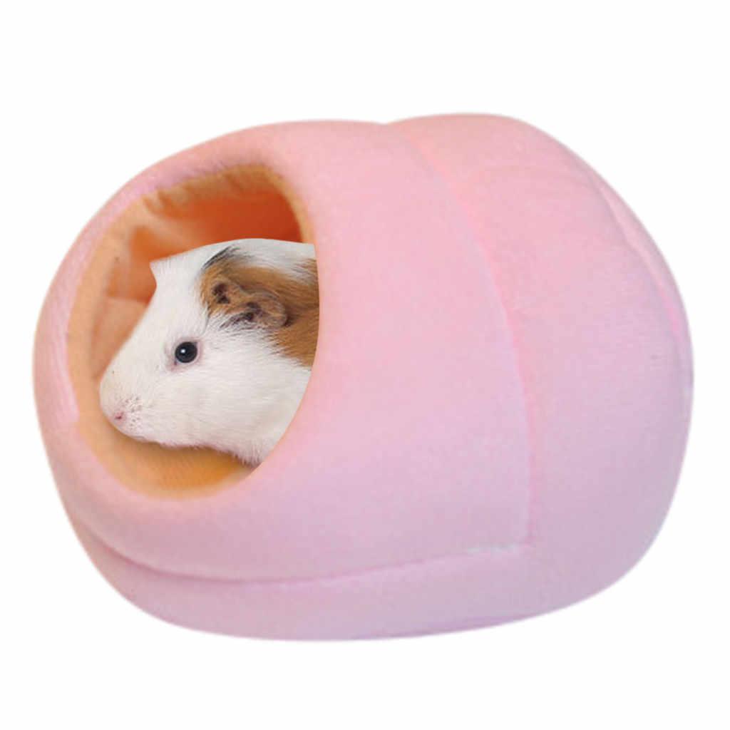 사랑스러운 쥐 햄스터 겨울 따뜻한 양털 교수형 케이지 해먹 작은 모피 동물을위한 침대 매트와 귀여운 집 2019 @ 35