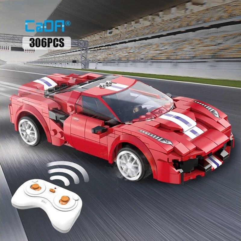 Конструктор гоночный автомобиль на радиоуправлении, APP программируемая модель спортивного автомобиля с дистанционным управлением, городс...