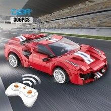 Rc carro de corrida tijolos app programação controle remoto esportes carro bloco construção modelo cidade brinquedos técnicos para crianças presentes cada
