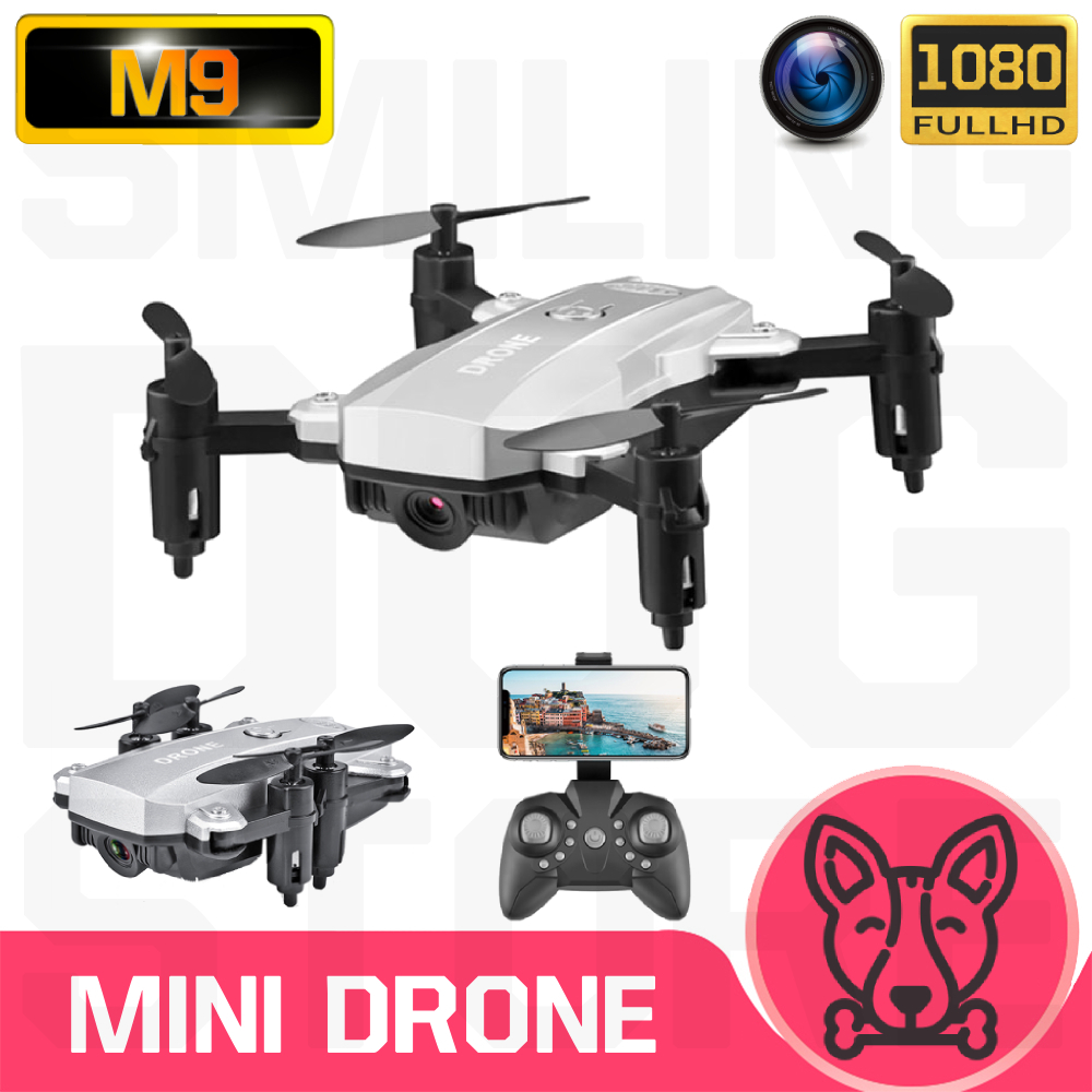 M9 Mini Drone Camera HD 1080P Wifi FPV Dron Foldable Altitude Hold RC Helicopter Selfie Drones Toys For Kids RC Quadcopter