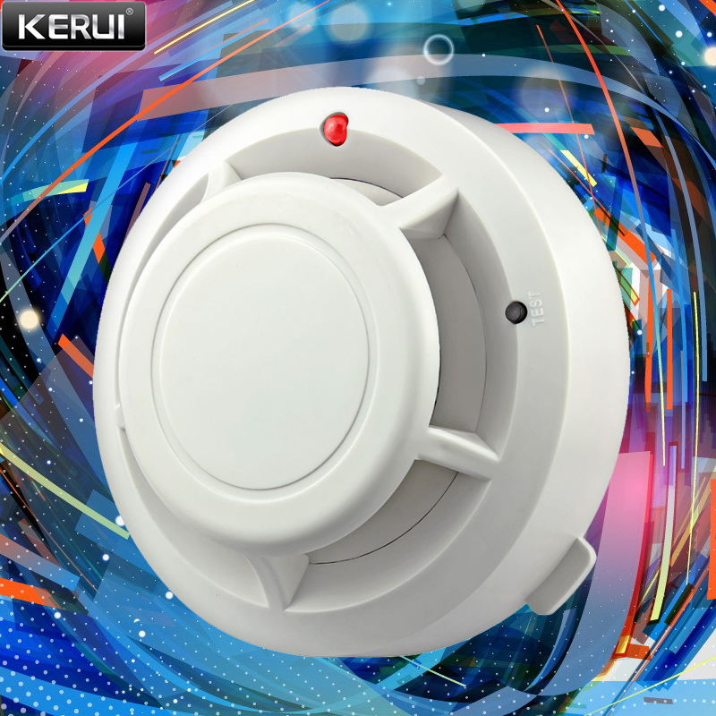 Беспроводной детектор дыма FUERS, автономная сигнализация, пожарное оборудование, для домашней безопасности