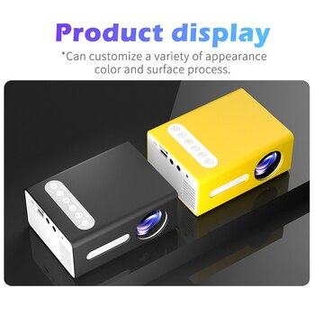 2020 nova t300 led projetor de vídeo mini projetores 1080p hdmi usb portátil completo projetor hd para o telefone dia das bruxas projetor casa