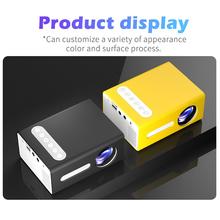 2020 nowy projektor wideo T300 LED Mini projektor 1080P HDMI USB przenośny projektor full hd na telefon halloween projektor home tanie tanio centechia CN (pochodzenie) projector