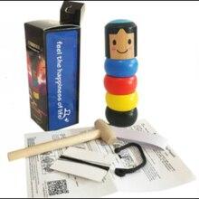 Immortal Daruma Небьющийся маленький деревянный человек волшебная игрушка фокусы уличный сценический магический реквизит забавная игрушка аксессуар