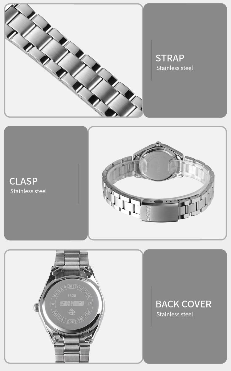 He5bb23ac0f3e417c946551b3b3c49f3eY 2020 SKMEI Casual Women Romantic Quartz Watches Luxury Female Girl Clock Waterproof Ladies Wristwatches Relogio Feminino 1620