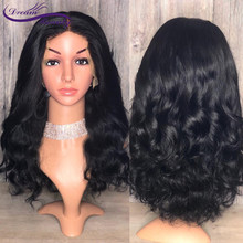 13x6 Deep Part Lace Front Human Hair Wigs 150 Density Brazilian Wavy Lace Frontal Wigs Pre Plucked Baby Hair Dream Beauty(China)