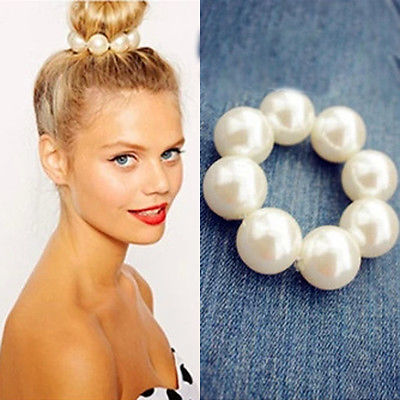 hair gum elastic Hair Rope For Women hair band Seamless Rings Hot New Pearl Beads   Headwear   Girls tie gum holder Fashion Jewelry