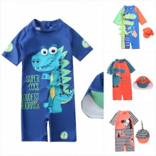 Children's Swimsuit Boys 2021 Dinosaur UV Baby Bathing Suit Boy Kids One Piece Swimming Suit Toddler Boy Swimsuits Bath Clothes