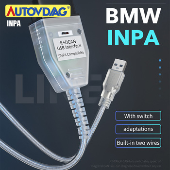 INPA OBD2 Diagnostic Tool Cable For BMW INPA K+CAN K CAN INPA With FTDI Chip With Switch For BMW INPA K DCAN USB Interface Cable 2017car diagnostic cable for bmw enet obd2 16pin ecu interface cable e sys icom coding f series esys f25 x3 gt data cable