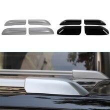 لتويوتا 4 عداء 2010 2019 سقف علوي رف أمتعة لاصقة تزيين غطاء الكسوة ABS الأسود الفضة كماليات سيارة خارجية