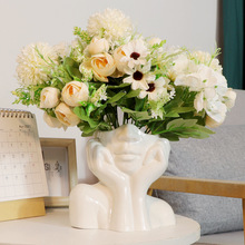 Nordic Ceramic Simulation Human Body Art Vase Sculpture Decoration Living Room TV Cabinet Handicraft Home Decor Ornaments