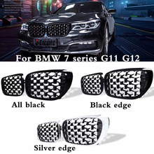 A pair Front Kidney Grille For BMW 7 Series G11 G12 Diamond Grille Meteor Style Front Bumper Grill Car Styling цена